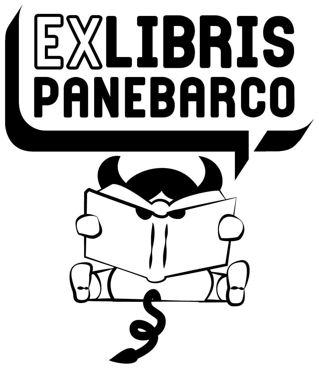 Panebarco Social Library - ex libris con minotauro