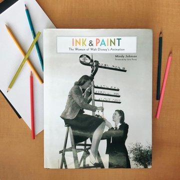 """immagine del libro di Mindy Johnson intitolato """"Ink and paint"""""""